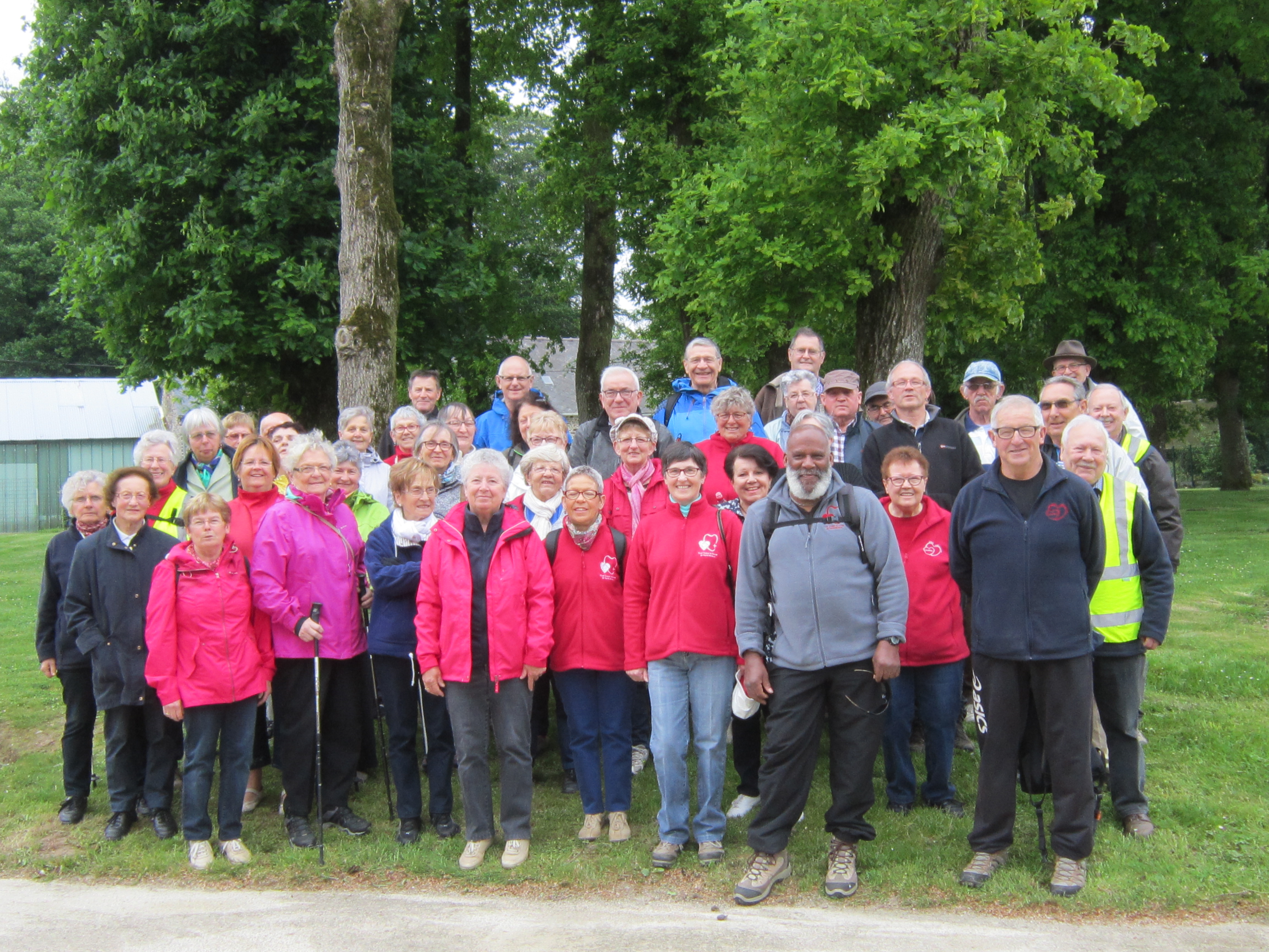 Photo de groupe avant la marche en foret
