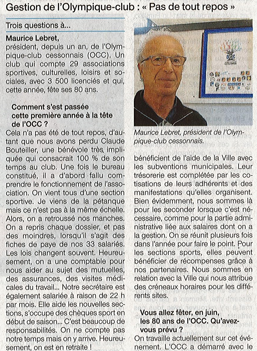 Article OCC 1